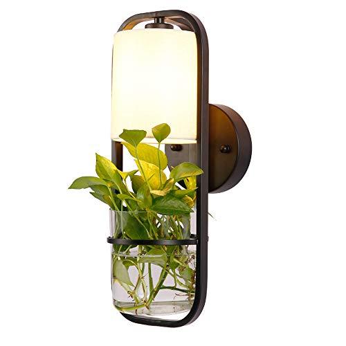 SUNSHIN Wandleuchte, modernes Design Art Deco Hydroponik Blumentisch Licht Touch Schalter für Schlafzimmer Bücherregal Dekor Nachtlicht Kreatives Geschenk
