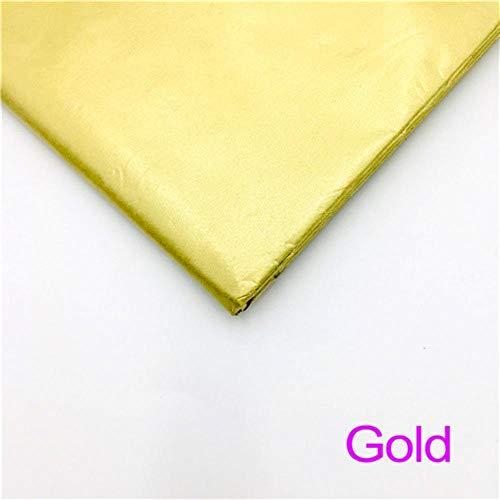 Miner 10 vellen inch Tissuepapier Bloem Kleding Overhemd Schoenen Geschenkverpakking Ambachtelijke papierrol Wijn Inpakpapier, Goud