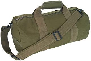 retro canvas duffle bag