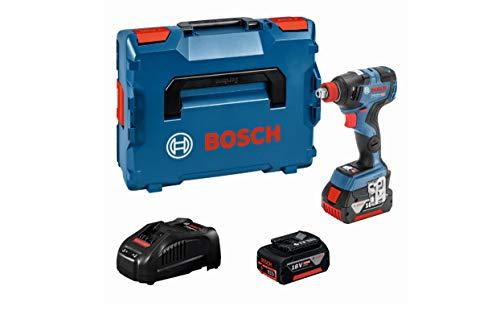 Bosch Professional 06019G4201 Avvitatore a Massa Battente a Batteria GDX 18V-200 C System, Coppia: 200 Nm, Inclusi 2 Batterie da 5.0 Ah, in Valigetta L-BOXX, 90 watts, 18 volts, Blu