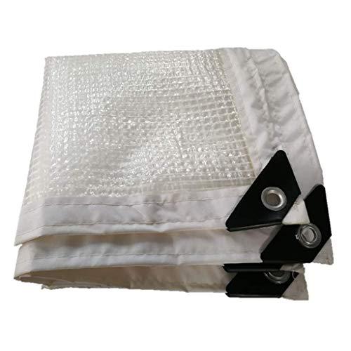 HCYTPL Transparante folie verdikte randen, geperforeerde bodemplaten voor planten, paviljoen, polyethyleen, met metalen gesp, 100 g/m2