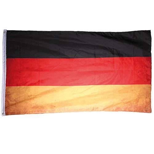 Deutschland Fahne Vintage Retro Flagge 90 x 150 cm Shabby Style