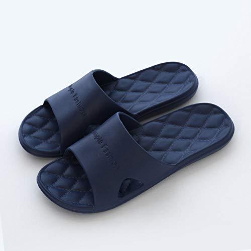 MQQM Gartenschuhe Home Slippers,rutschfeste Paar Sandalen mit weichem Boden, Sommer-Badeschuhe-Navy 11_40-41,Unisex Sommer Flip Flop