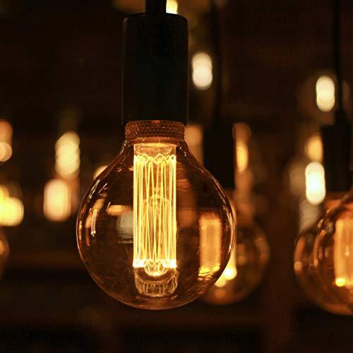 Vintage Decorative Round LED Light Bulb, Globe Amber Glass Bulb, Dimmable 3.5W Harwez RN G95/G30, 2000K Warm Lighting Mood Light(Not Daylight White), E26 Medium Base