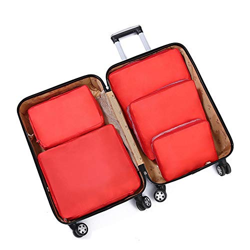 Equipaje del Bolso del Organizador Set de 5 x Embalaje Cubos de Viajes organizadores Equipaje Bolsas de compresión de los Sistemas Impermeables Bolsas almacenaje de la Ropa Accesorios de Viaje for el
