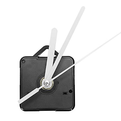 TOOGOO 1 Paquete Piezas de Reparación DIY de Manos de Reloj de Pared de Repuesto Mecanismo de Movimiento del Péndulo Motor de Reloj de Cuarzo con Manos Y Kit de Accesorios(Negro&Blanco)
