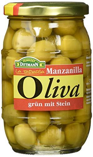 Gourmet Oliven grün mit Stein  300/200g Gl.
