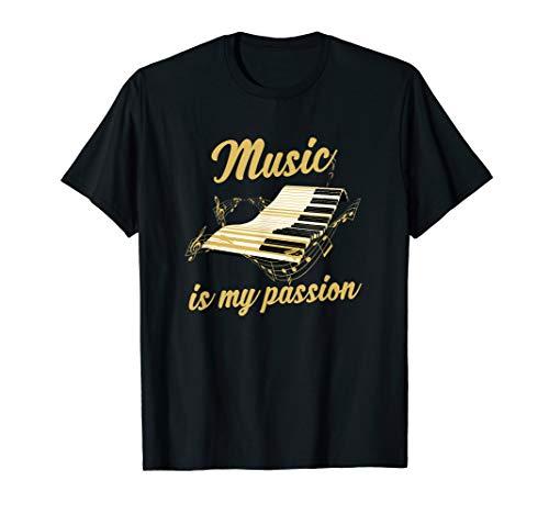 Pianist Geschenk Klavierspieler Spruch Piano Musik Klavier T-Shirt