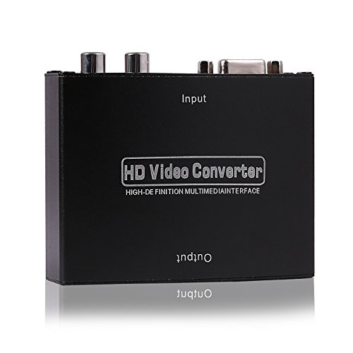 HDE VGA w/Audio to HDMI Video Scaler Converter Box with Power Adapter VGA to HDMI Adapter for Retro Gaming Consoles, Dreamcast, XBox 360, PS2