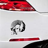 Pegatinas Coche Bebe 17.2x16.2Cm Pegatinas personalizadas Moda Escalada de montaña Hobby Pegatinas de deportes extremos Calcomanía Car Styling para el coche Laptop Window Stickers