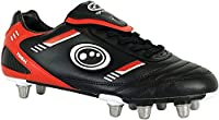 Optimum Unisex Tribal Rugby Boots, Black Red, 12 UK from Optimum
