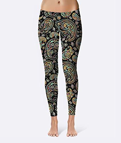 Paisley Batik Premium Women's High Waist Leggings featuring original design by Artist Dan Morris