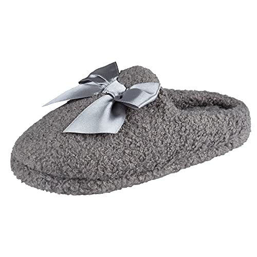 Jessica Simpson Girls Slip-On Clogs-Fuzzy Comfy Warm Memory Foam Sherpa Slippers with...