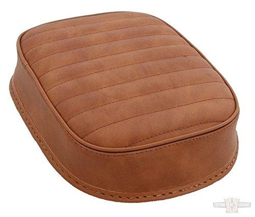 Sellino universale marrone in pelle cuciture orizzontali - ventose Sellino passeggero universale con sei ventose