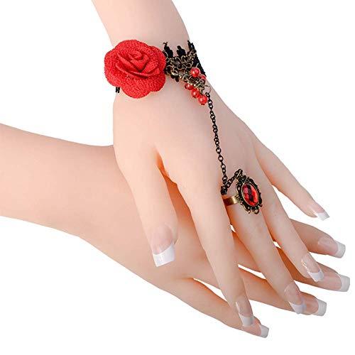 KYWW Lebensechte Realistische Männliche Weibliche Silikon-weiche Handschaufensterpuppe Display Ring Schmuck Hand Teaching Style Modell 1 Paar,A Pair