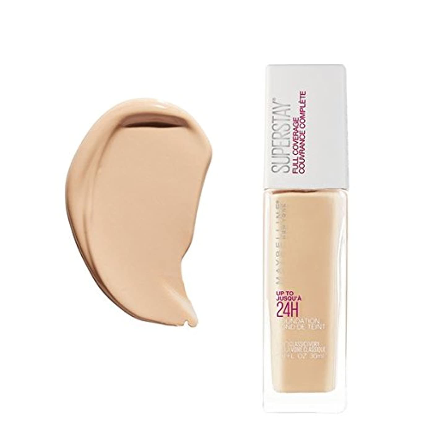 武器うがいたくさんの(3 Pack) MAYBELLINE Superstay Full Coverage Foundation - Classic Ivory 120 (並行輸入品)