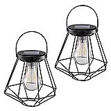 Solar Lanterns Outdoor Hanging - Sunwind LED Garden Table Lamps Solar Powered Edison Filament Bulbs for Patio Backyard Courtyard Lawn Landscape Decor (A60 Filament Bulb)