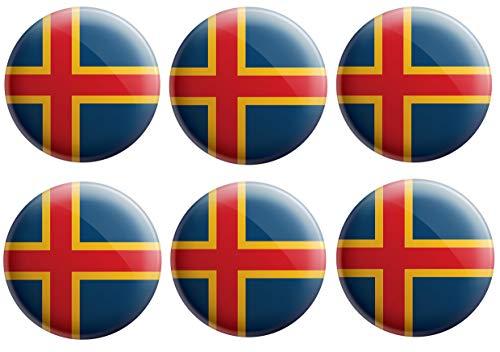 AK Giftshop Aland Islands Flaggen-Anstecker – Partytütenfüller – Veranstaltungen – Feiern – Sammler – Dekorationen – Sockenfüller (12 Stück)