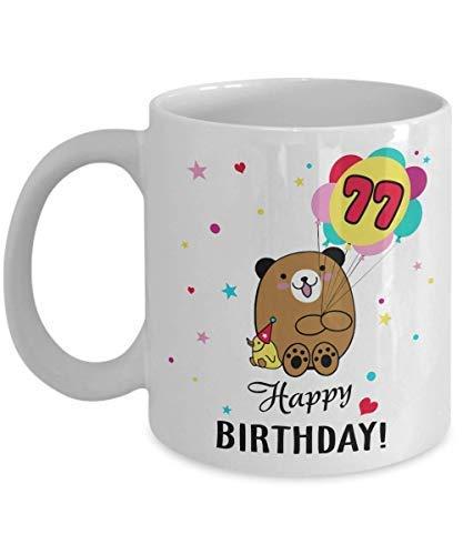 NA 77 años de Edad 77.º Regalo de Feliz cumpleaños para Hombres,...