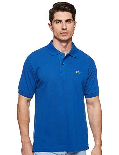 Lacoste Men's Short Sleeve L.12.12 Pique Polo Shirt, Electric Blue, L