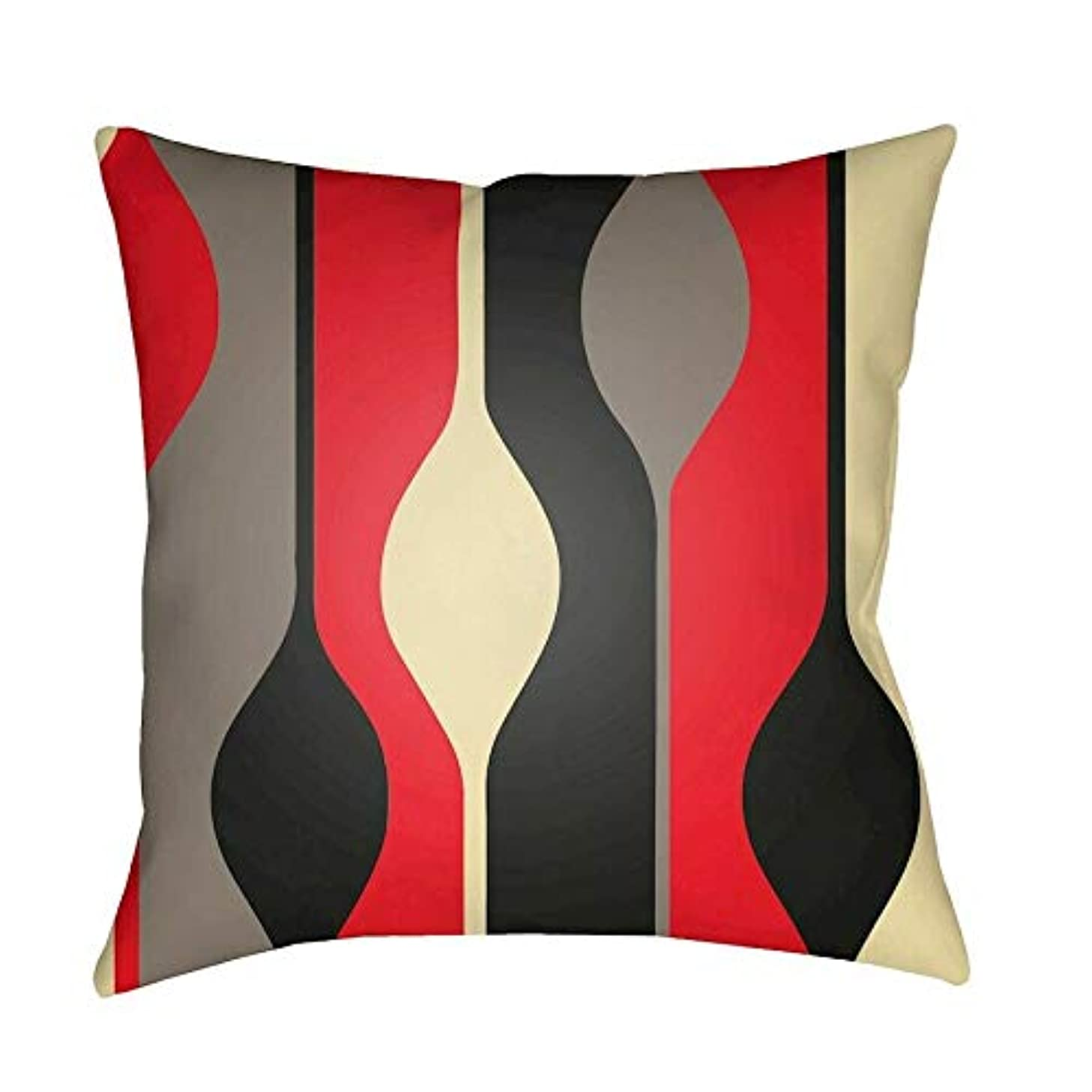 JumpingLight Modern Pillow, Red/Gray/Black Hypoallergenic, Deluxe Quality
