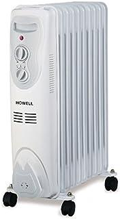 Howell HO.TMO911 Color blanco 1500W Radiador - Calefactor (Radiador, Piso, Color blanco, Giratorio, 1500 W, 485 mm)