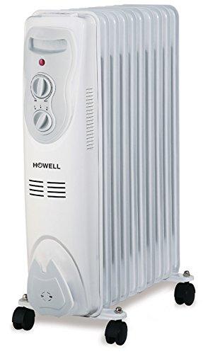 Howell TMO911 Termoconvettore ad Olio con 9 Elementi, Bianco, 51x60x16 cm