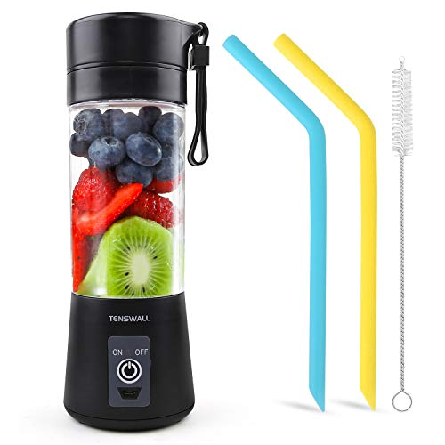 Portable Blender, Personal Size Blender Shakes and Smoothies Mini Jucier Cup USB Rechargeable Battery Strong Power Ice Blender Mixer Home Office Sports Travel Outdoors