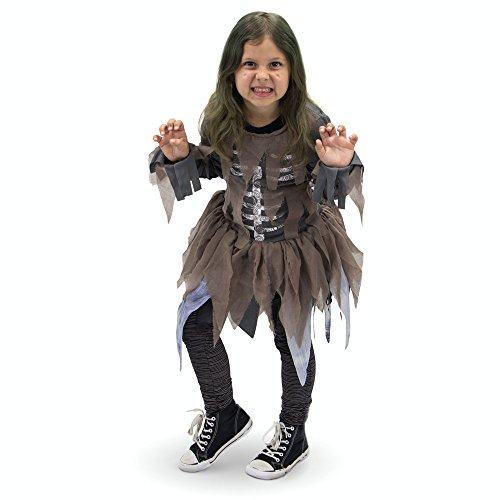 Hungry Zombie Children's Halloween Costume - Scary Costumes for Girls (X-Large)