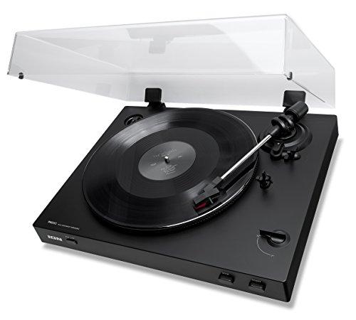 ION Audio PRO80 Automatic - Giradiscos Automático de 2 Velocidades (33 1/3 y 45 RPM) con Accionamiento de Correa con Cubierta para el Polvo y Salida de Línea de Audio Coaxial de Calidad