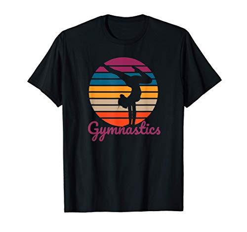 Retro Acro Gear Girl Tumbling Team Gear Gymnast Gymnastics Camiseta