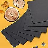 200 hojas de papel negro para origami, doble cara, papel origami, papel de origami, papel cuadrado hecho a mano para Navidad, origami, manualidades y proyectos de manualidades, 15 x 15 cm