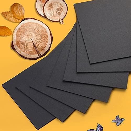 200 hojas de papel negro para origami, doble cara, papel origami, papel de origami,...