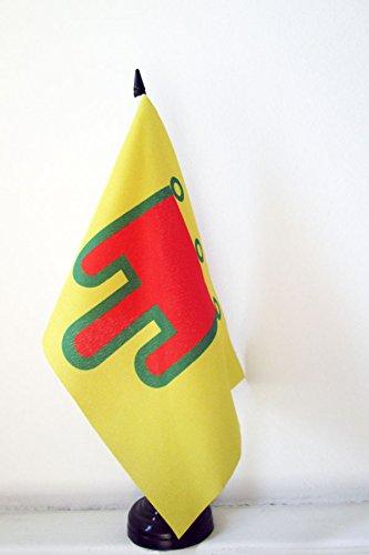 AZ FLAG Drapeau de Table Auvergne 21x14cm - Petit Drapeaux DE Bureau auvergnat - Comté d'Auvergne 14 x 21 cm