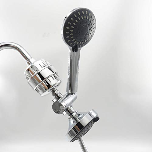 PGZLL Shower Filter, Water-Saving Shower, Shower Set, Universal Adjustable Shower Bracket, Shower Head,Removal Of Chlorine And Fluoride, Chrome Shower, Six-Piece Suit