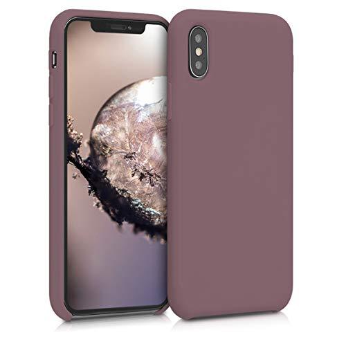 kwmobile Hülle kompatibel mit Apple iPhone XS - Handyhülle gummiert - Handy Case in Grape