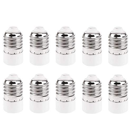 Lampensockel Adapter Konverter (10 Stück) für E27 Fassung auf E14 Sockel Lampenadapter - Lampensockeladapter für LED Halogen Energiespar Lampen, Sockeladapter