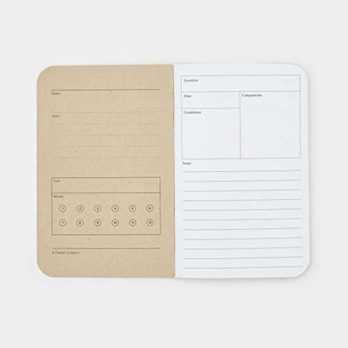 Word Notebooks Adventure Log - Black 3-Pack - Traveler's Notebook Photo #6