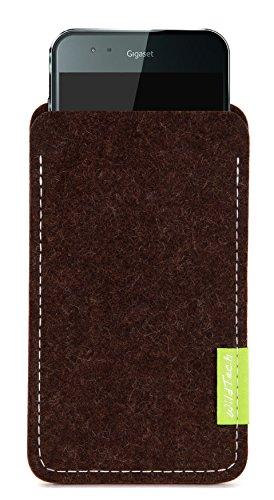 WildTech Sleeve für Gigaset ME / Gigaset ME Pure Hülle Tasche - 17 Farben (Handmade in Germany) - Trüffelbraun