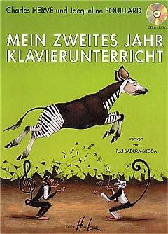 MEIN ZWEITES JAHR KLAVIERUNTERRICHT - arrangiert für Klavier [Noten / Sheetmusic] Komponist: HERVE CHARLES + POUILLARD JACQUELINE