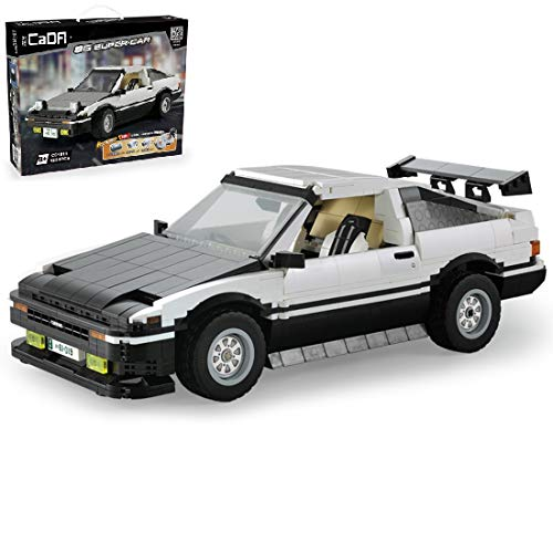 PEXL Technik Auto Bausteine Bausatz für Toyota AE86 Rennwagen, Technic Rennauto Modell, 1200 Klemmbausteine Kompatibel mit Lego Technic