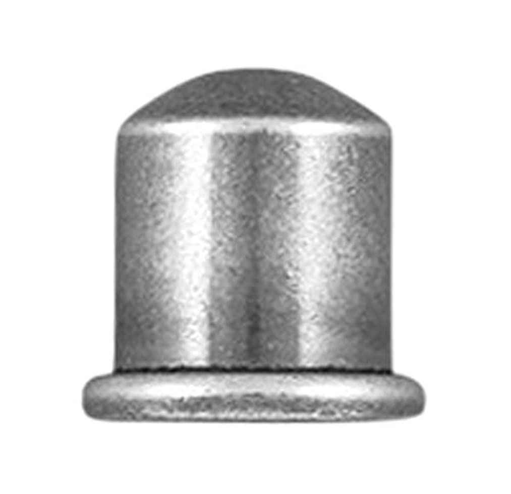 TierraCast Cord End Cupola Beads, 6mm Inner Diameter/9mm, Tin Oxide