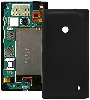 غطاء خلفي بلاستيكي من لينغلاند لهاتف نوكيا لوميا 520 (أسود) غطاء خلفي للهاتف الخلوي قطع التثبيت (اللون: أسود)