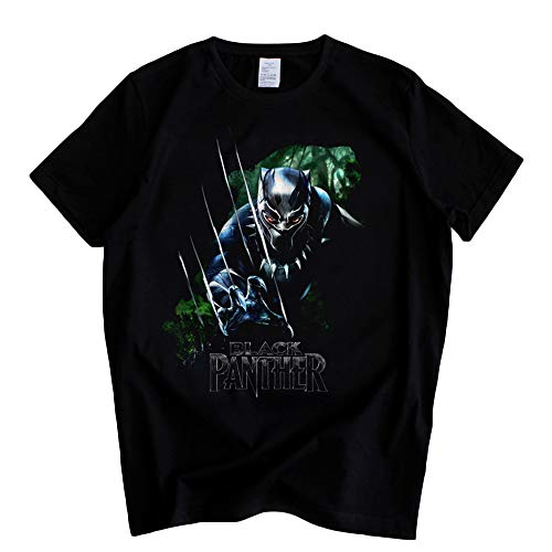 Black Panther Suelta T-Shirt Camiseta Deportiva de Tejido Transpirable Joker Fashion Trend Preferred Poleras (Color : A01, Size : S)