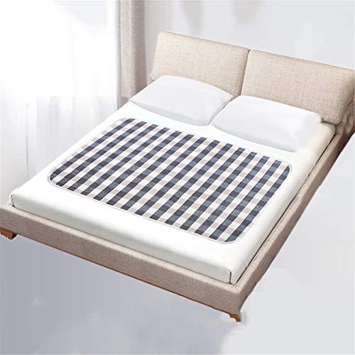 Waterdicht laken en matrasbeschermer voor incontinentie, wasbaar ademend katoenen verzorgingskussen, antislip absorberende kussenhoes