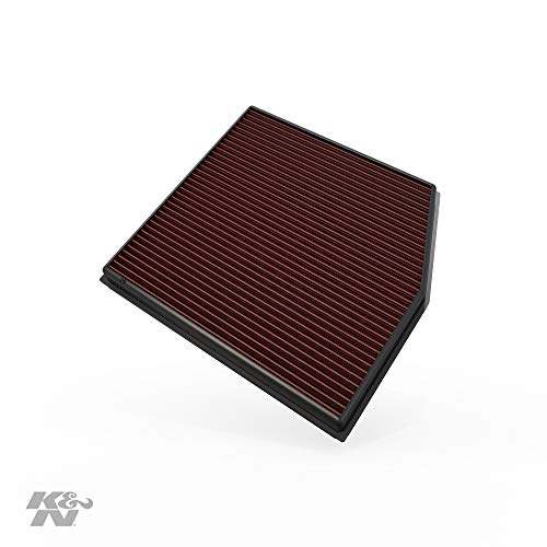 K&N Engine Air Filter: High Performance, Premium, Washable, Replacement Filter: 2010-2015 BMW L6 (X1, 135i, 335i Coupe), 33-2458
