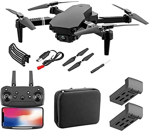 SCYMYBH Drone GPS WiFi 4K HD Cámara de Video en Vivo Drone para Principiantes, altitud Hold, Auto Retorno, Control de Gesto, Sígueme y Modo sin Cabeza (Color : 1080P 2 Battery)