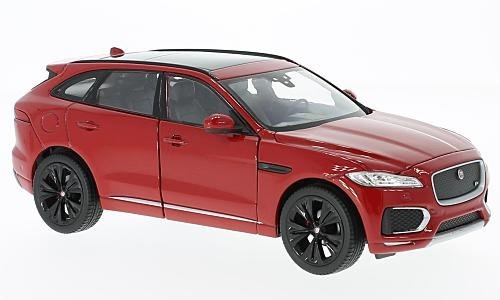 Jaguar F-Pace, metallic-rot, 2016, Modellauto, Fertigmodell, Welly, 1:24