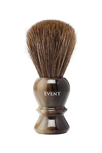 Event Brocha de Afeitar Caballo Extra Marrón con Soporte, Diámetro 24 mm - 1 Pack