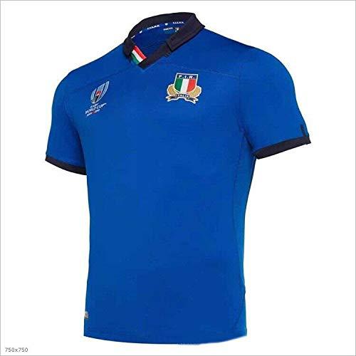 CHERSH 2019 Italien Fußball-WM-Trikot (Color : Blue, Size : XXXL)